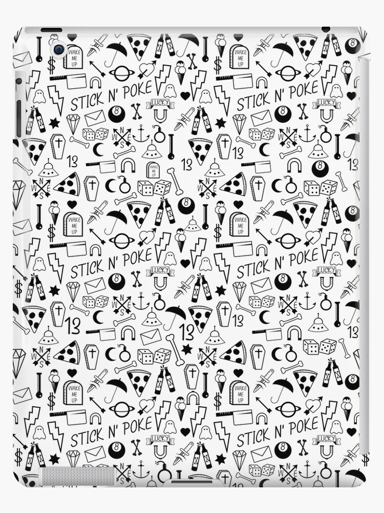 Quot Stick And Poke Tattoo Quot Ipad Case Amp Skin By Piedaydesigns
