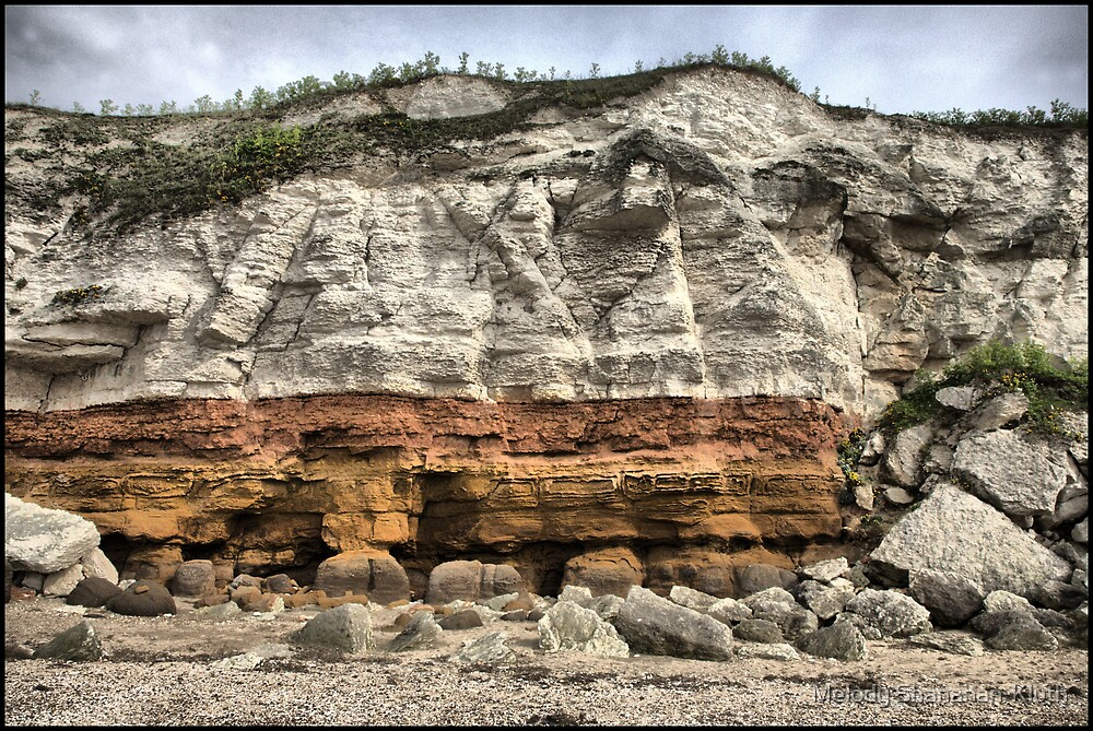 Hunstanton Cliffs HDR 2 by Melody Shanahan-Kluth