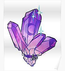 Amethyst Dark Crystal Tattoo Flash Poster