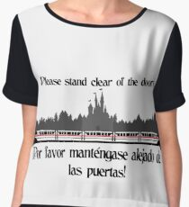 Stand Clear of the Doors Chiffon Top