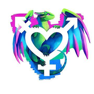 Dragón del orgullo polisexual de kaenith