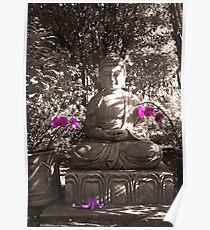 Zen Buddha In The Spritual Garden Poster