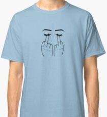 Mittelfinger / Augen Classic T-Shirt