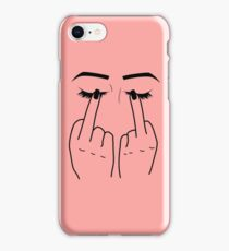 Middle Finger/Eyes iPhone Case/Skin