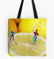 Golf Game On Lemons Tote Bag