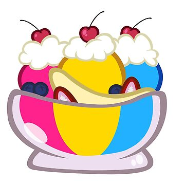 Pansexual Ice Cream Sundae by Stardustwake
