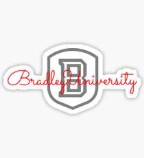 Bradley University Cursive B Shield Sticker Sticker