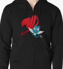 Fairy Tail Guildmark Happy  Zipped Hoodie