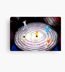 Running On Red Onion Canvas Print