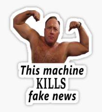 Alex Jones vs. Fake News Sticker