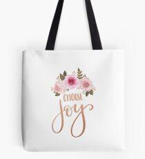 Floral Choose Joy Tote Bag