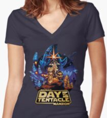 Day of the Tentacle - Star Wars mashup Women's Fitted V-Neck T-Shirt