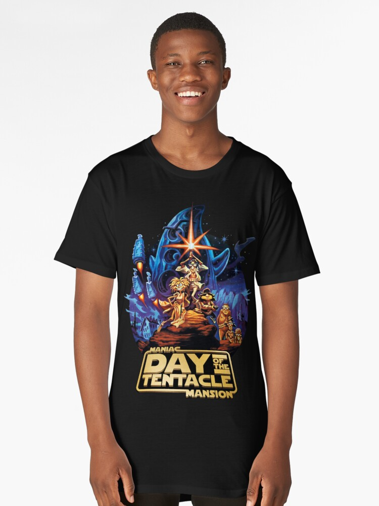Day of the Tentacle - Star Wars mashup Long T-Shirt Front