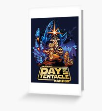 Day of the Tentacle - Star Wars mashup Greeting Card