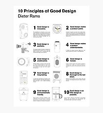 10 Principles of Good Design Photographic Print