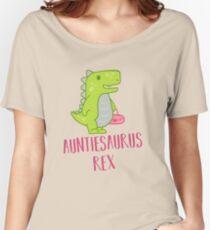 Auntiesaurus Rex Shirt, Funny Aunt Dinosaur tshirt Women's Relaxed Fit T-Shirt