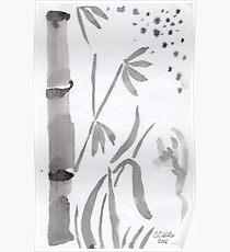 Bamboo & Stars Poster