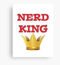 NERD KING Canvas Print