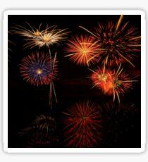 Fireworks Reflection In Water   Sticker