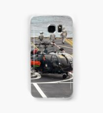 Safety Walkdown - Helicopter Flight Deck Samsung Galaxy Case/Skin