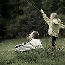 Flying a Kite Two by Nikolay Semyonov