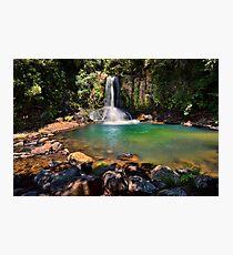 Waiau Falls Bright Water Photographic Print