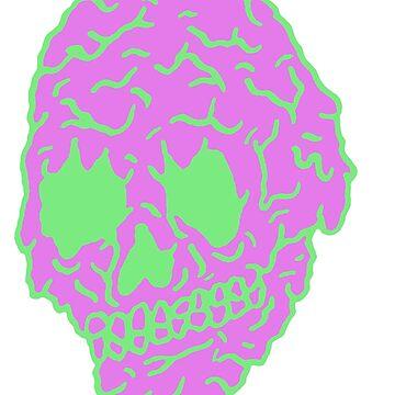 Neon Slime Skull by goatgraff