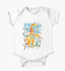 Cute Fantail Goldfish Swimming In Bubbles Kids Clothes