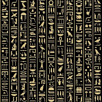 Black & Gold Hieroglyphics  by CRWPROD