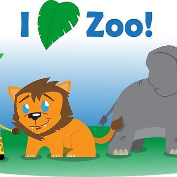 I Heart Zoo by DrewBird