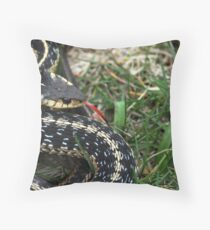 Garter Snake Throw Pillow