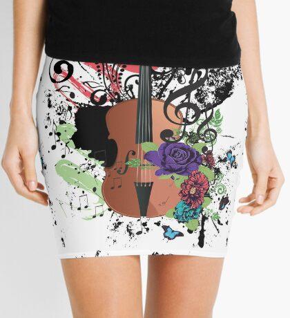 Grunge-Violine-Illustration Minirock