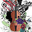 Grunge-Violine-Illustration von AnnArtshock