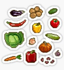 Set of pixel stickers - vegetables Sticker