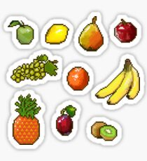 Set of pixel labels - fruit Sticker