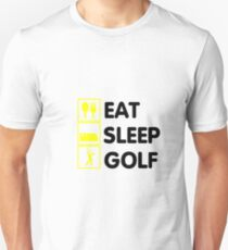 Eat Sleep Golf Funny Golfing Gift Dad Grandpa Unisex T-Shirt