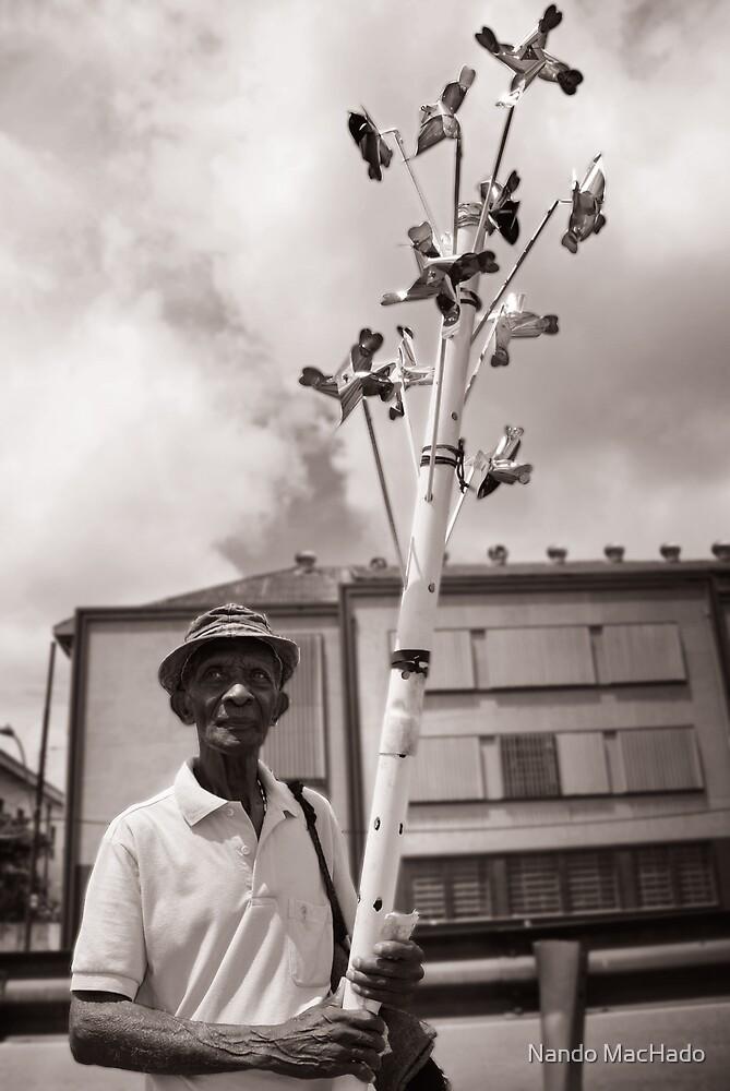 Pinwheels man by Fernando Machado