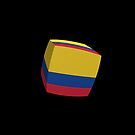 Colombian Flag cubed. by stuwdamdorp