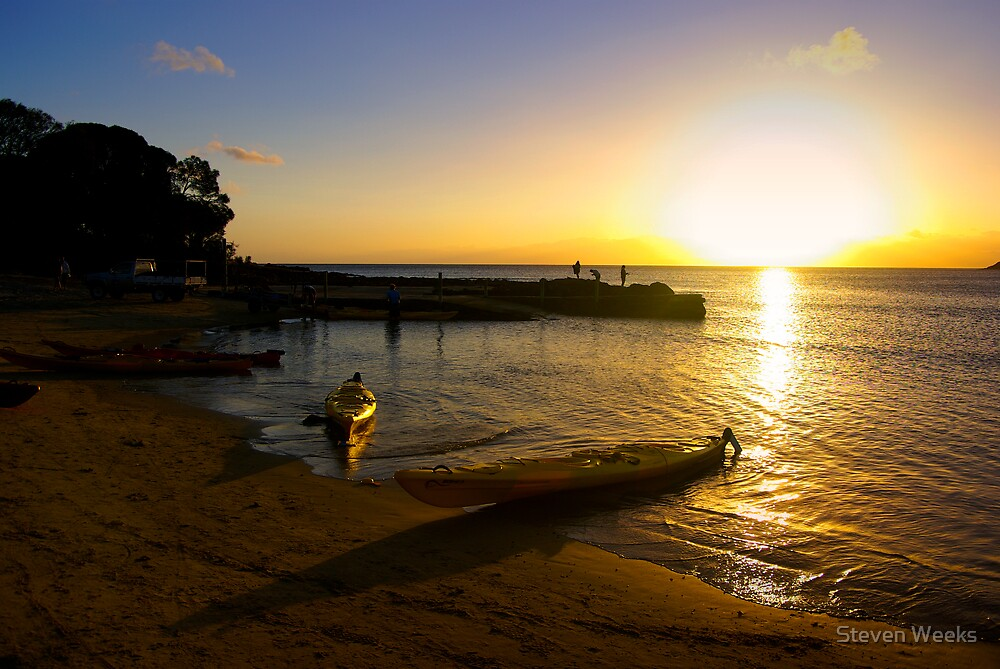 Sunset, Coles Bay by Steven Weeks