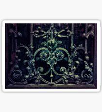 Old ornamented gate Sticker