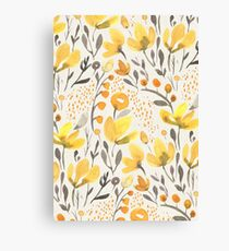 Yellow field Canvas Print