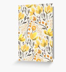 Yellow field Greeting Card