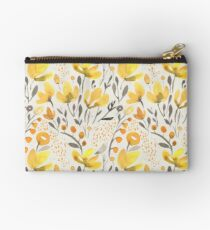 Yellow field Zipper Pouch