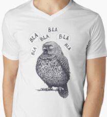 Owl bla bla bla Men's V-Neck T-Shirt