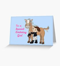 mini pony Greeting Card