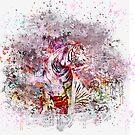 Artsy Tiger Art by artsandsoul