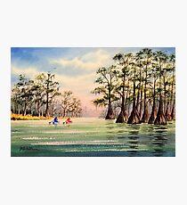Canoeing The Suwannee  Photographic Print