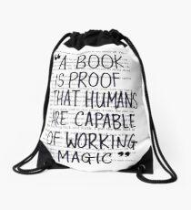 Mochila saco Un libro es una prueba de que los humanos son capaces de hacer magia mágica