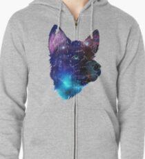 Galaxy Wolf Pup Zipped Hoodie