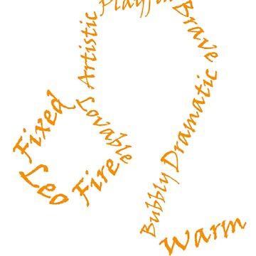 Leo Symbol Typography by SamoyedOfValor